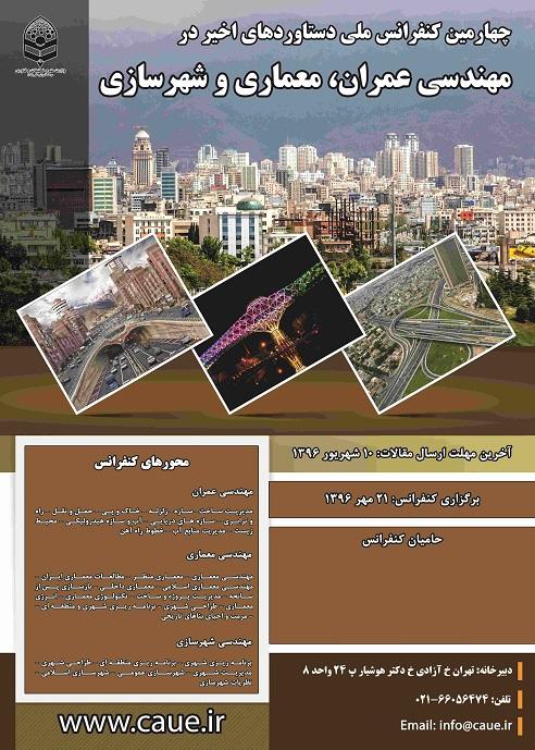چهارمین کنفرانس ملی دستاوردهای اخیر در مهندسی عمران معماری و شهرسازی
