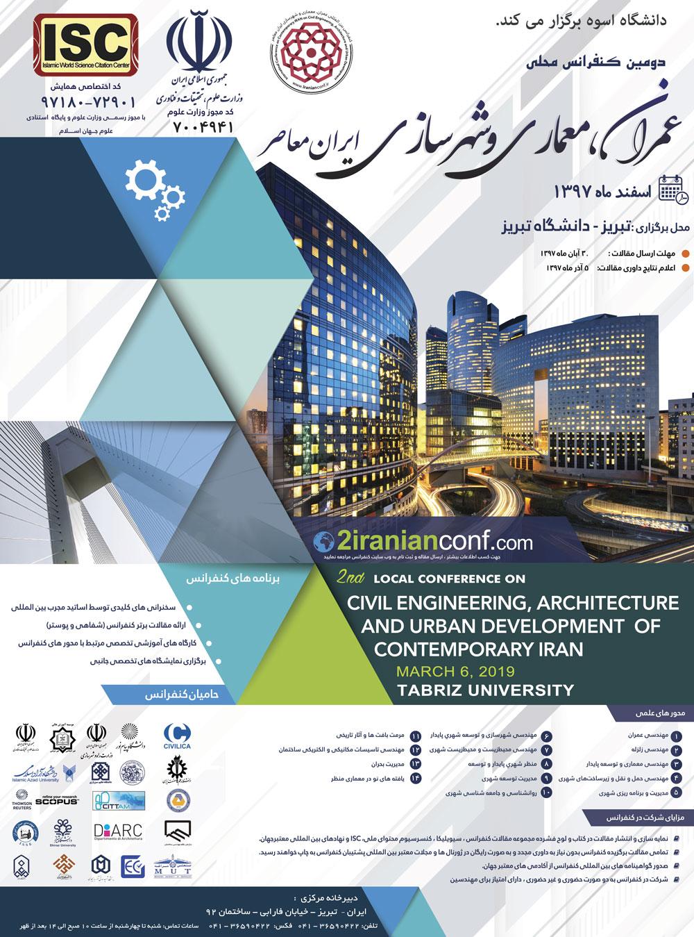 عمران، معماری و شهرسازی ایران معاصر