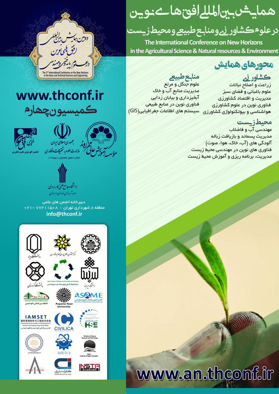 همایش بین المللی افق های نوین در علوم کشاورزی و منابع طبیعی و محیط زیست